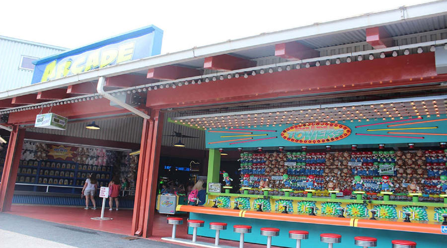 Video games, crane machines, Skeeball, and redemption games