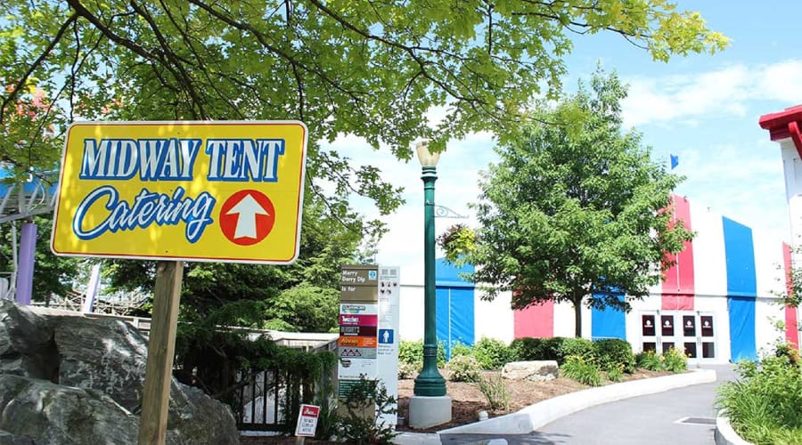 Look for the red, white & blue tent next to the Merry Derry Dip fun slides to join the party.