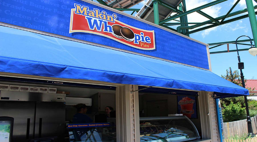 Makin Whoppie pie stand ordering window and sign