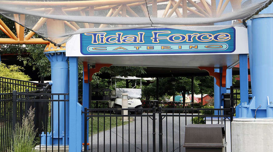 Tidal Force catering area inside Hersheypark