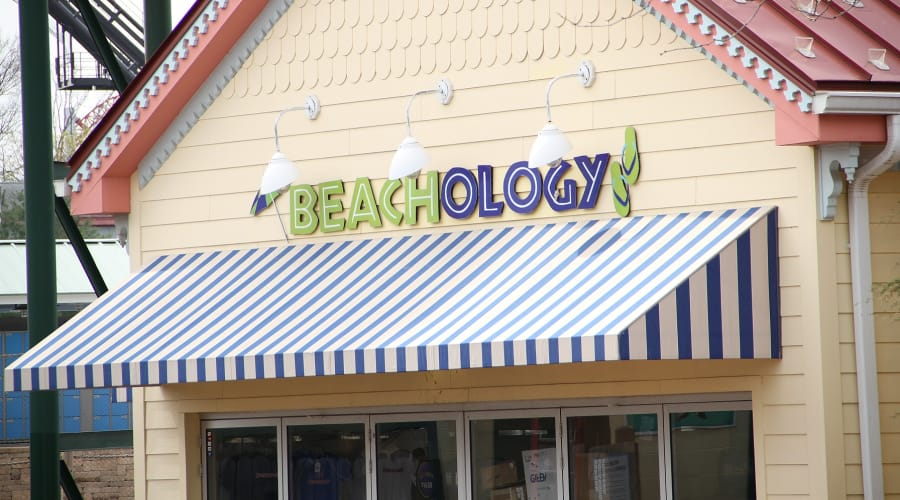 Beachology swimwear shop inside Hersheypark