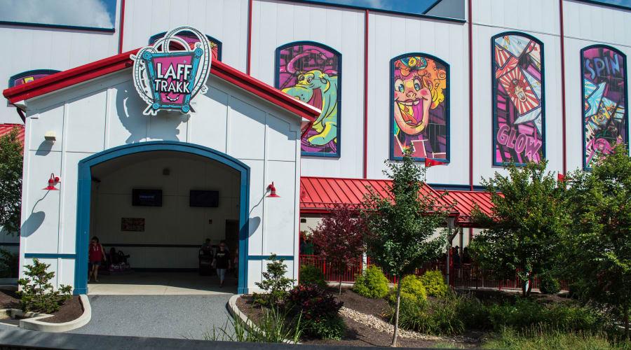 The Entrance of Laff Trakk Coaster