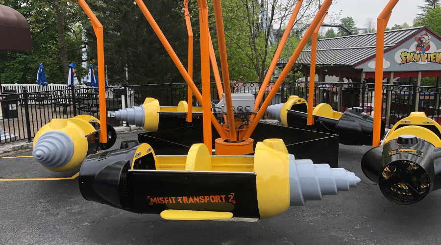 Close up of ride